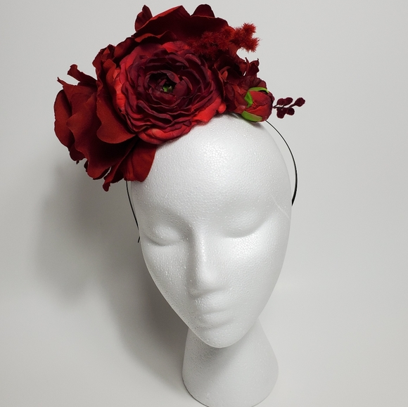 Accessories - Red Rose Fascinator